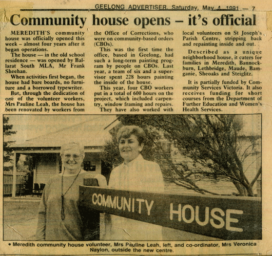 News clipping - House opens
